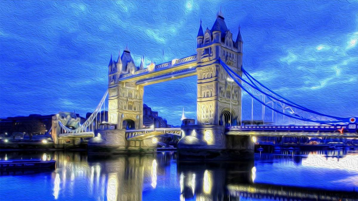 Ilustración gratis - Londres - pintura digital