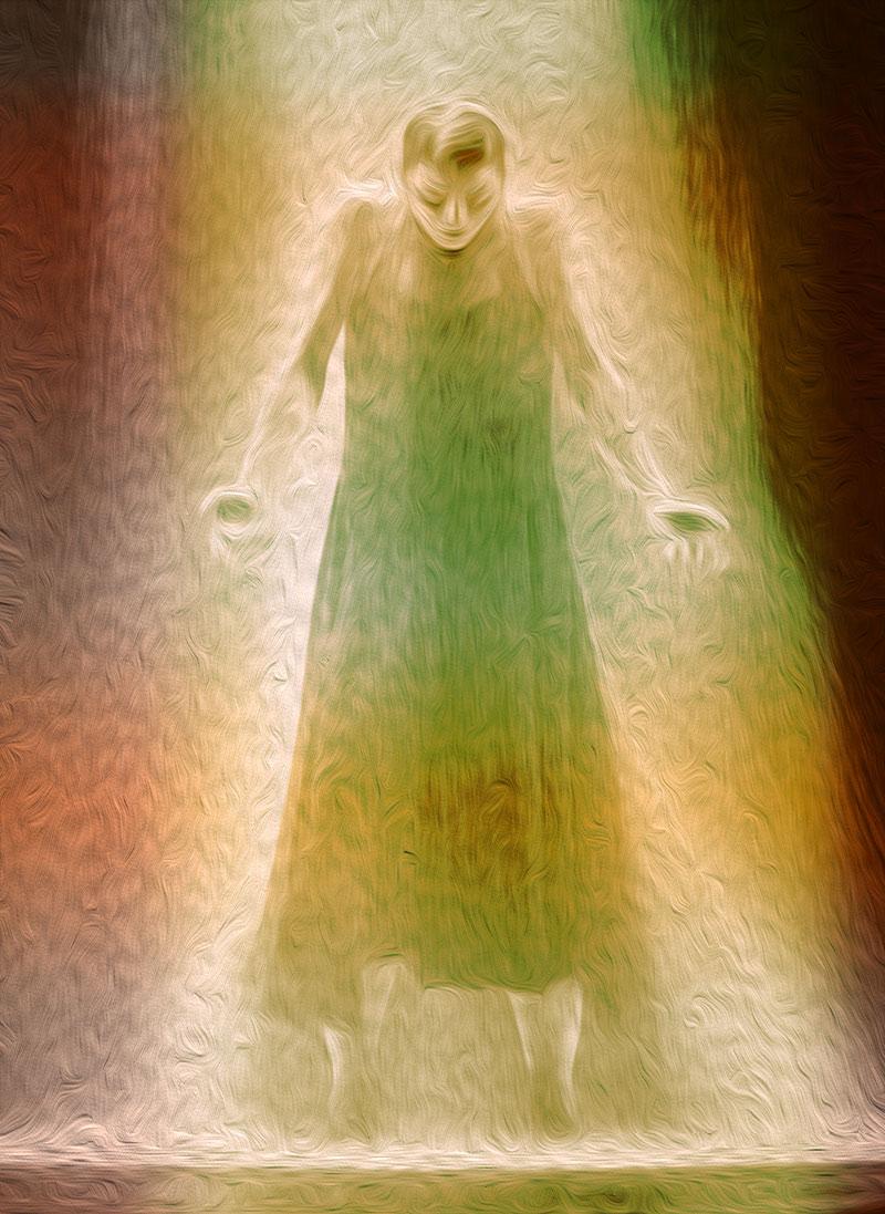 Ilustración gratis - Mujer con fuente de luz y poder
