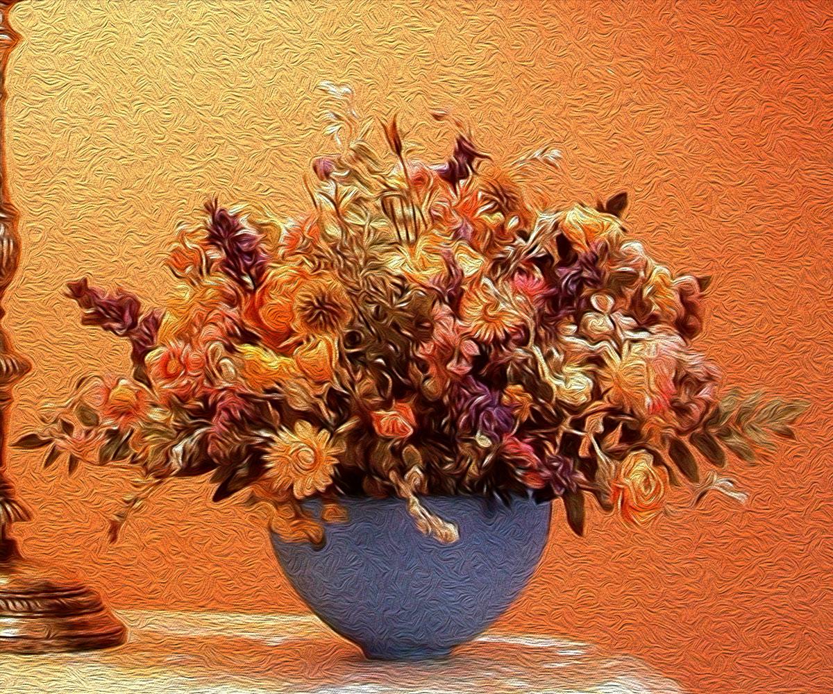 Ilustración gratis - Jarrón con flores secas