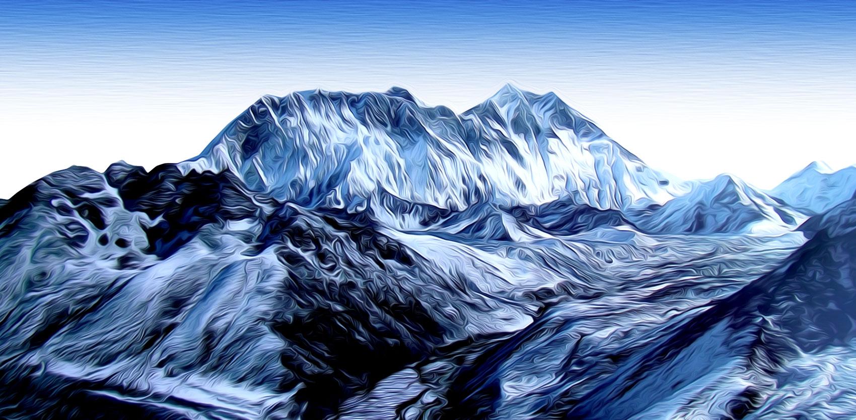 pintura expresionista himalaya